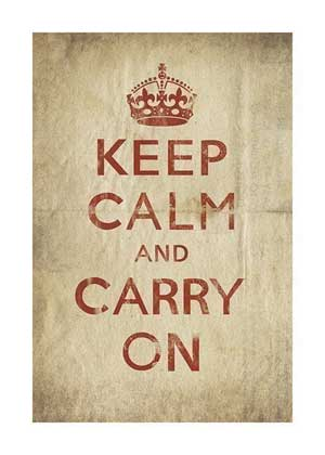 Keep Calm and Carry On print by Cut & Paste Print
