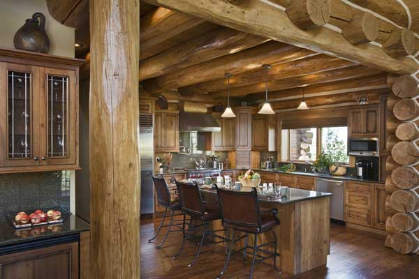 Idaho Log Home Kitchen