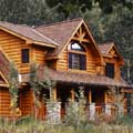 Idaho's Sun Valley Log Home Exterior