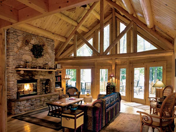 Katahdin log homes guest room