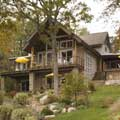 Lakeside Log Home Getaway Exterior