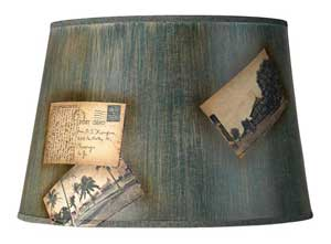 Lamps Plus's Verdigris Postcard lampshade