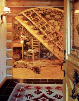 Log Home Entryways