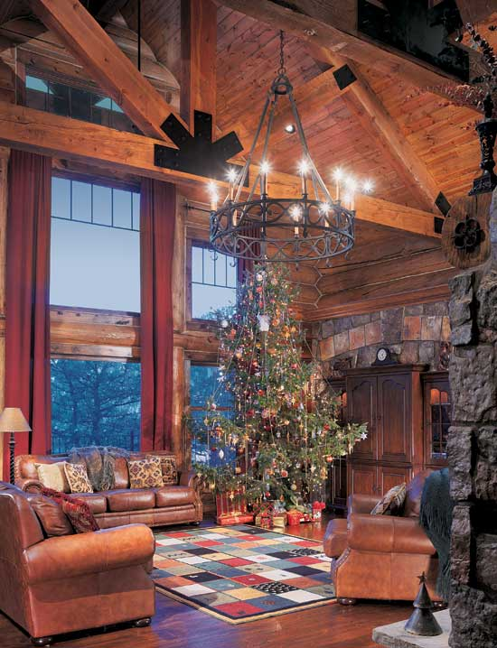 Log Home Outler great room