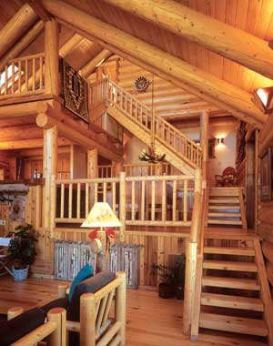Log Home Stairways