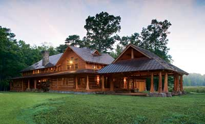 Best Multi-Level Log Home Plan | The Agostini | Hearthstone, Inc. & Sellers & Company
