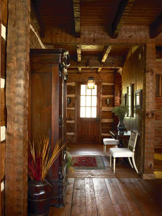 Log home foyer