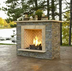 Outdoor GreatRoom Company outdoor gas fireplace