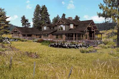 Best Log Home Plan Over 2,500 Square Feet | The Trailside | PrecisionCraft Log & Timber Homes
