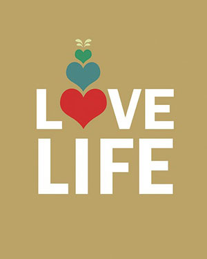 Love Life print by Papermoth Illustration