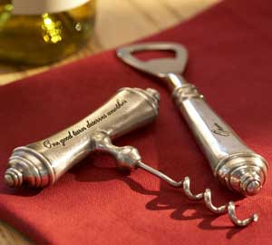 Antique Silver Corkscrew