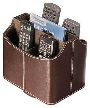 Remote control caddy from Stacks & Stacks