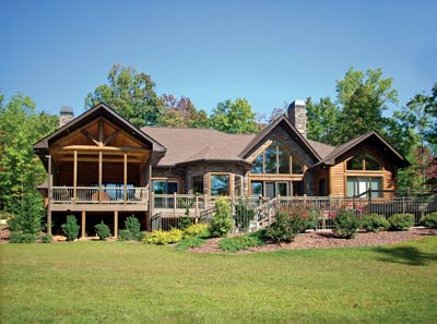 Best Single-Level Log Home Plan | The Westminster | Expedition Log Homes