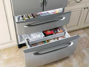 GE Profile pullout freezer drawers