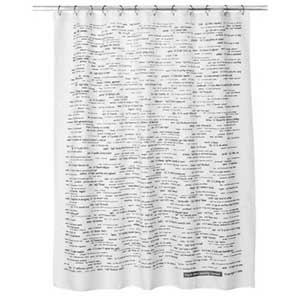 SAT words shower curtain