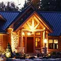Wisconsin Log Home Exterior