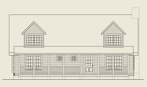 Southwestern Virginia log home project | Open Space