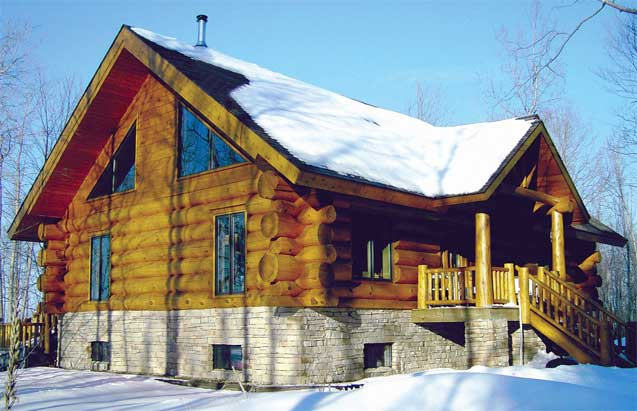 Grunberg Handcrafted Log Home