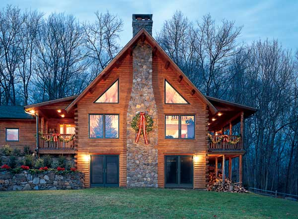 Holiday log home