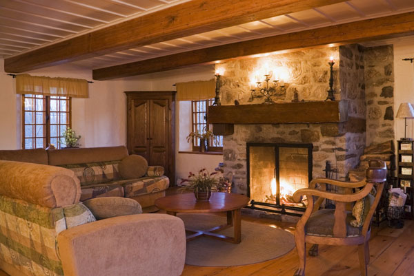 Quebec Log Home Interior