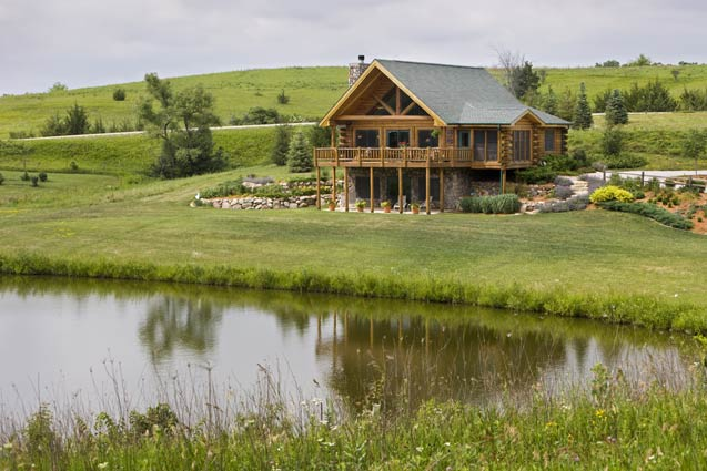 Expedition Log Homes | Rustic Cabin in Field
