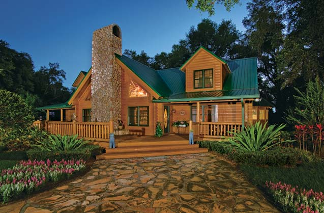 Log Home and Garden | Suwannee River Log Homes