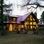 Small Log Home by StoneMill Log Homes