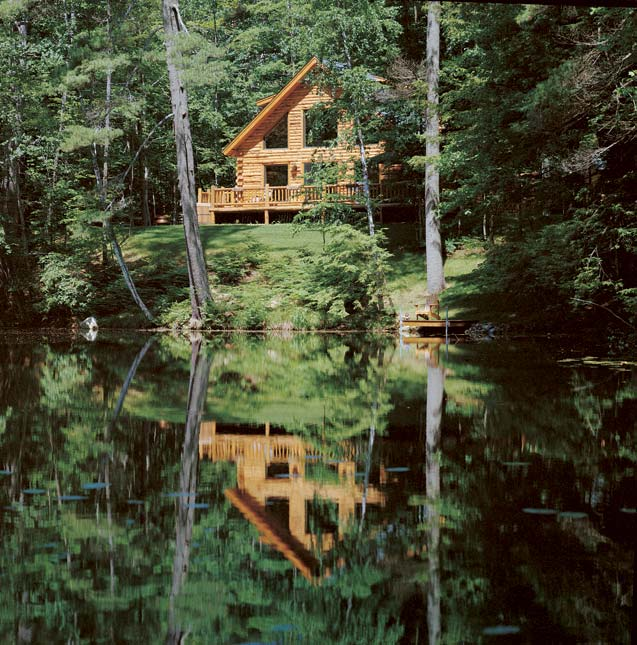 Waterfront Log Cabin | Country Log Homes
