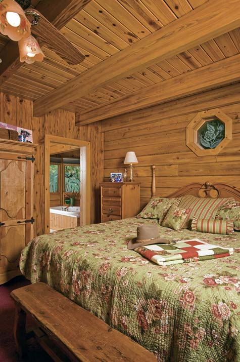 Cabin Master Bedroom