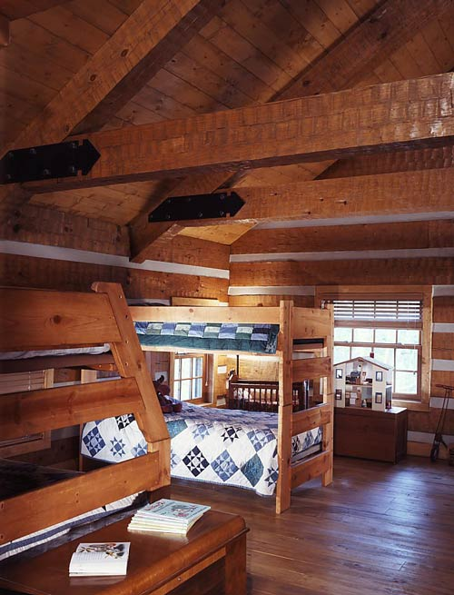 Child's Log Home Bedroom