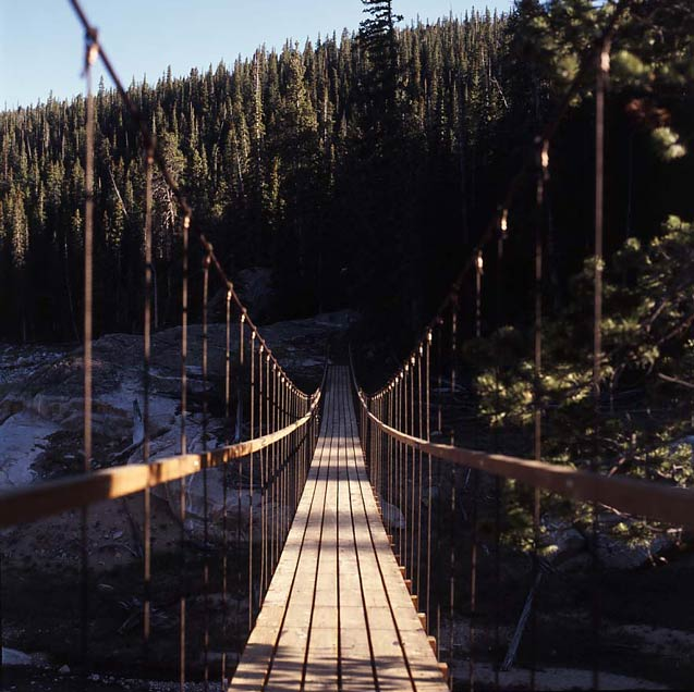 bridge across ravine