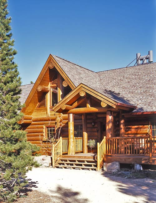 Log Cabin Home Photo Exterior