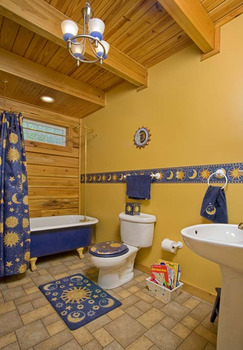 Funky Cabin Bathroom
