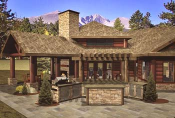 Outdoor Kitchen | Wisconsin Log Homes Photo