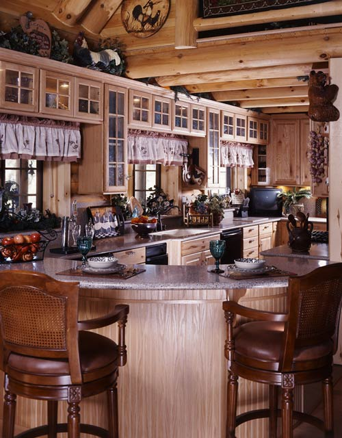Cottage Log Cabin Kitchen