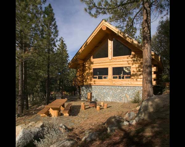 mountain log home lodge