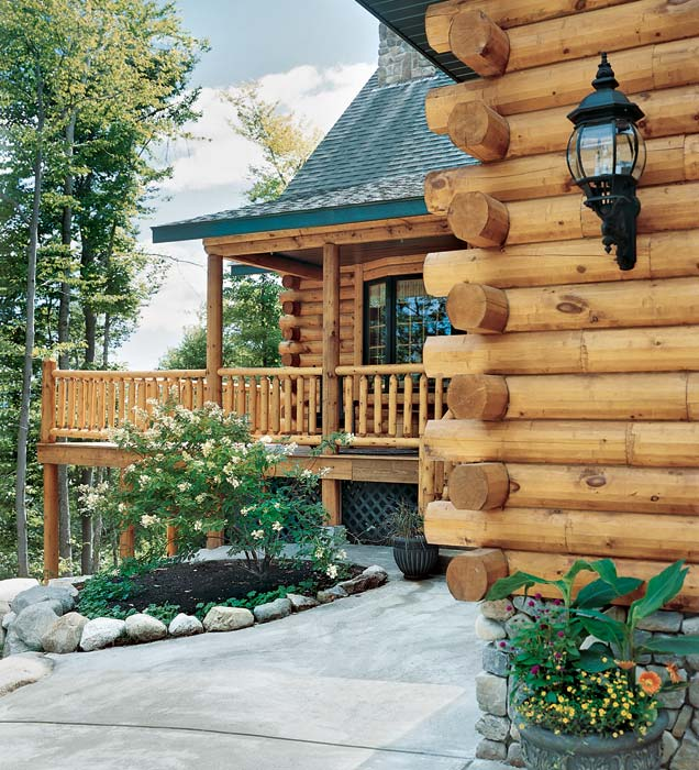 Log Corner Profile and Porch | Rich Frutchey Photo