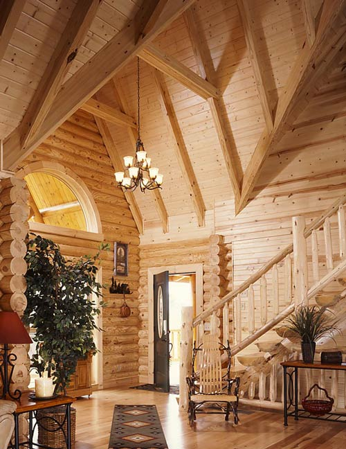 Entrance to Log Home
