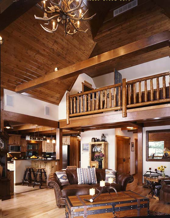 log home interior