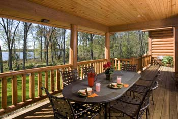 Log Home Porch | Wisconsin Log Homes Photo