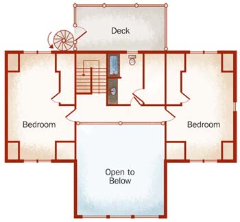 Elk River II, Small Log Home Plan