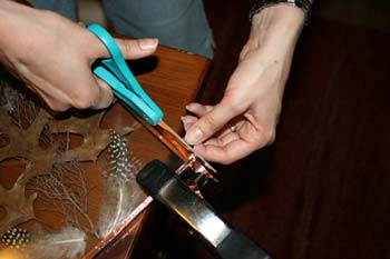cutting copper wire