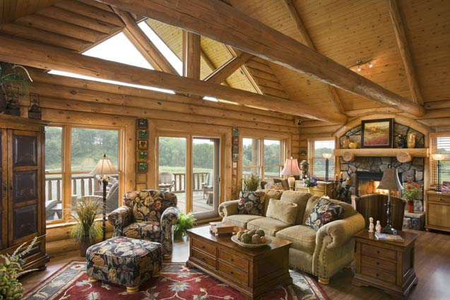 Cabin Great Room | Expedition Log Homes