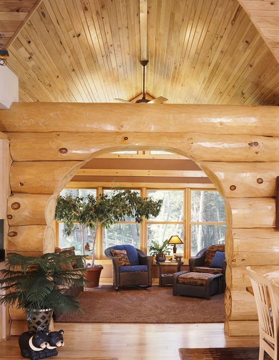 Large Log Archway