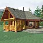 Small Log Home, Aspen Meadow