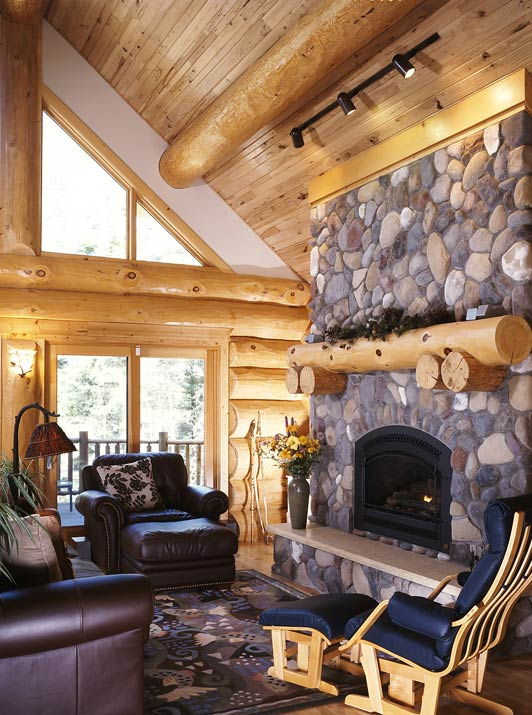 Cozy Cabin Hearth Area