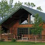 small log home, the creekside