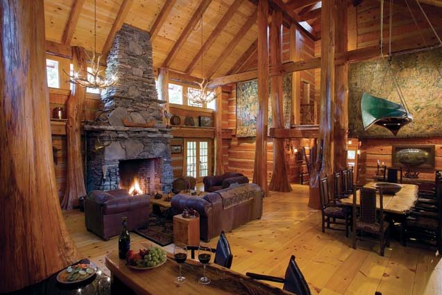 Cabin Great Room | Log Interior