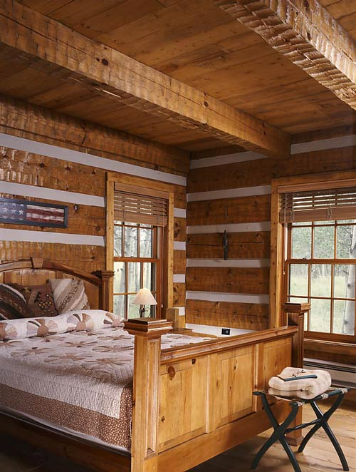 Rustic cottage photos found in translation hearthstone log homes log home living - Log cabin bedrooms ...