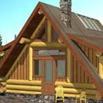 small log homes, the eisenhower